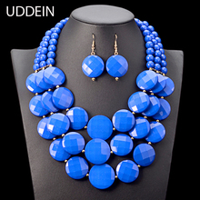 UDDEIN Nigerian wedding Indian Jewelry Set Multi layer Beads Necklace Women Bohemian Statement Chokers African Beads Jewelry(China)