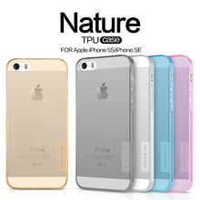 100% Original NILLKIN Brand  Ultra Thin Transparent Nature TPU Case For Apple iPhone SE Soft case For iPhone 5S freeshipping