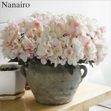 6 Forked 1PC European Artificial Flower Fake Hydrangea Bouquet Christmas Wedding Arrangement Home Decoration Cheap Fake flowr