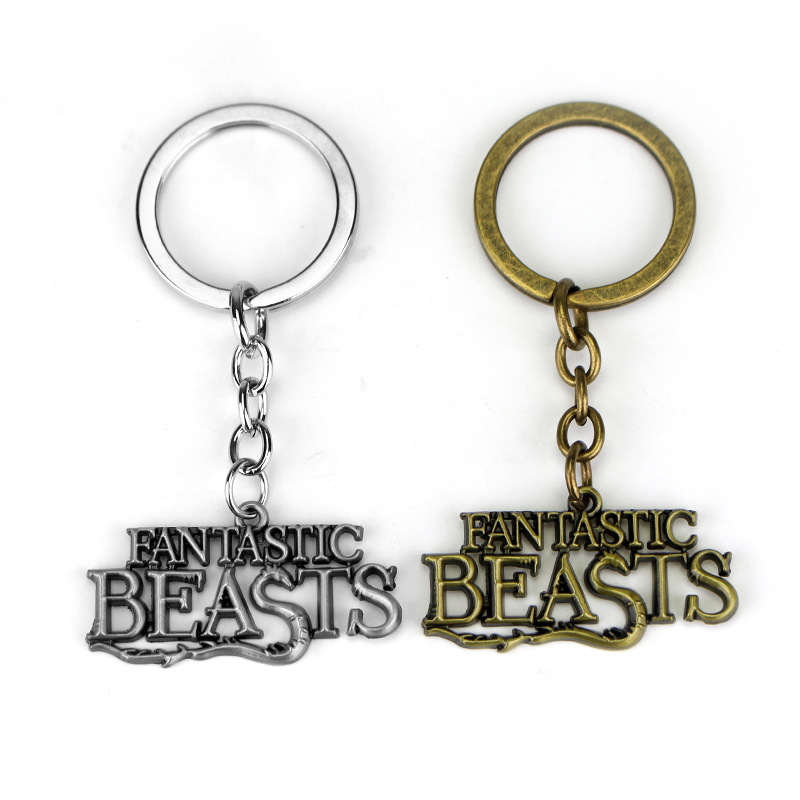 Fantastic beats and Where to Find Them Movie Newt Queenie Niffler Logo Pendant Fashion Key chain Fantastic Beats Keychain Key <br><br>Aliexpress