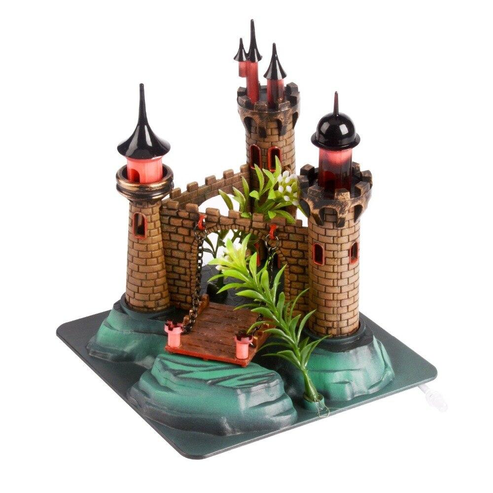 Fish tank castle decorations