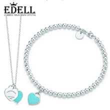 Buy EDELL Infinity Authentic 100% 925 Sterling Green Silver Bracelet Love Set Bracelet Women Romantic Gift Charm Jewelry Design for $32.70 in AliExpress store