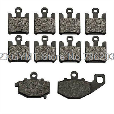 Brake Pads 2004 2005 2006 2007 for Kawasaki Zx10 Zx10r Zx1000 Kev Carb Front + Rear MT-1565<br>