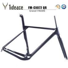 2018 Tideace Full Carbon gravel frame 135mm/142mm Di2 Gravel Bicycle Frame Cyclocross Disc Bike Frame for Road or MTB tires(China)