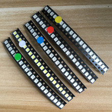 5 Values* 20pcs=100PCS Bright 3528 1210 SMD LED Kit Red/Green/Blue/Yellow/White 20pcs Each LED Diode 3.5*2.8*1.9mm(China)