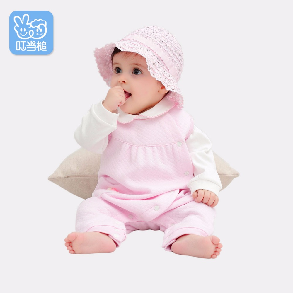 Dinstry Girls spring autumn childrens T-shirt+ sleeveless Romper 2pcs suit babys Outfits<br>