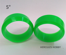 4pcs Five Degree RC Drift Tires for Cars 1/10 Hex 12mm Green