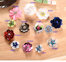 5-15pcs/lot 2-3cm width flower sequins beads Rhinestones shoes clothes dress embroidery lace appliques patch V51S85K0421C(China)