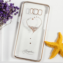 KINGXBAR Phone Capa for SamsGalaxy S8 S8+ Case Swarovski Crystal Diamond Plated PC Case for Samsung Galaxy S8 Plus Cover Coque