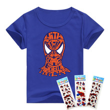Hot t-shirt movie TV spider man boys clothes O-neck Spider-Man pattern cotton children t shirts cartoon design boys clothing