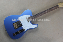 Free shipping Chinese Factory Custom  100% NEW telecaster electric guitar,blue Tele guitar electric guitar Gold hardware