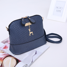 2017 Fashion Shell Toy Shoulder Bag Mini Deer Shape Personality Messenger Bag Leather Crossbody Bag For Women Girls