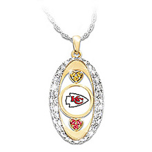 Kansas City Chiefs Pride Pendant championship Necklace drop shipping  Football team logo sports jewelry best christmas gift