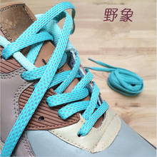 new style polka dot reflective patchwork shoelaces design for neight runner people walk at night  flat shoe lace women men black