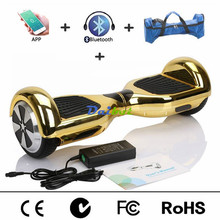 6.5 Chrome Gold Pink Bluetooth Hoverboard Mobile APP Control Electric Self Balancing Scooter Hover Board Electric Skateboard