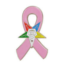 Breast Cancer Awareness Eastern Star OES Masonic Square and Compass Cardinal Bird Golf Clubs Fight Cross Pink Ribbon Lapel Pins(China)