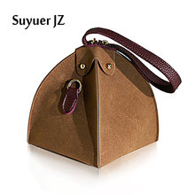Suyuer 2017 Women's Handbags Fashion Trend Novel Small Triangle Bags Shoulder Bag Solid Color Messenger Bag Crossbody Bag Ladies