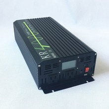 Power Inverter 1500W Peak 3000W Off Grid Pure Sine Wave 12V/24V/48V to 120V/220V with LCD Display USB Port Home Use Car Use(China)
