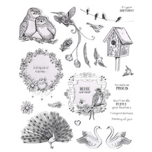 CCINEE 15cm x18cm Clear Transparent Stamp Bird Style For DIY Scrapbooking/Card Making/ Decoration Supplies(China)