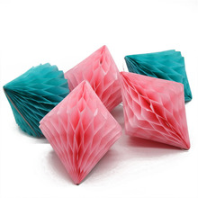 "5pcs/lot 6""(15) New Idea Tissue Paper Diamond Honeycomb Wedding Decor Party Birthday Kids BabyShowers"