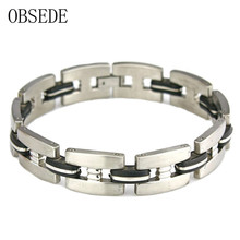 Titanium Steel Stainless Steel Bracelet Fashion High Quality Mens Bracelets 2017 Cool Bracelet Men Jewelry Accessories For Gift