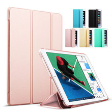 Case for iPad 9.7 inch 2017, kenke PU Leather+Ultra Slim Light Weight PC Back Cover Case for iPad 9.7 2017 New model