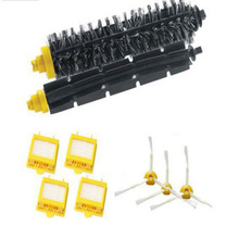 New Brush + 4 x Filter 3 armed Side Kit For i Robot Roomba 700 Series 760 770 780