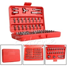 Chrome Vanadium 100pcs Security Screwdriver Tamperproof Torx Hex Bit Set W/ Case Nice Gifts(China)