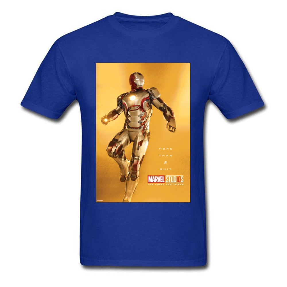 Tops Tees Marvel More Than A Suit Thanksgiving Day Short Sleeve Pure Cotton Round Neck Men Top T-shirts Casual Tshirts Prevalent More Than A Suit blue
