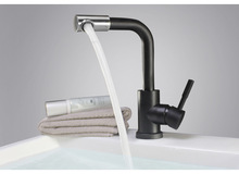 Factory sales Single Handle Bathroom Sink Faucet Stainless Steel Basin Mixer Taps,black Finish--MD6671