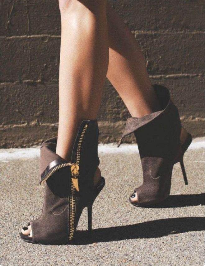 HIZCINTH New Fashion 2018 Summer High Heel Sandals Fish Mouth Shoes Woman Side Zipper Cool Sandalias Boots Sandalia Gladiador<br>