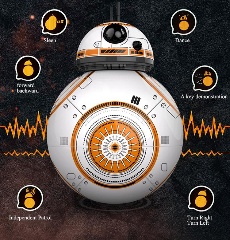 Star Wars RC Robot BB-8 2.4G Remote Control Action Figure Robot BB-8 Intelligent Ball Toys With Movie Original Sound For Kid<br>