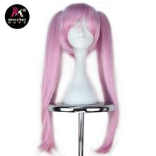 Miss U Hair Synthetic Girl Pink Color Wig with Two Straight Claw Ponytails Cosplay Halloween Wig