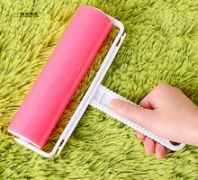 1PC Big Remover Washable Brush Fluff Cleaner Sticky Picker Lint Roller Carpet Dust Pet Hair Clothes Reusable Home Tools LF 073(China)