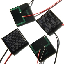 Wholesale 1000PCS/Lot 0.25W 5V 50mA Min Solar Panel Polycrystalline Solar Cell+Cable DIY Solar Toy/System Education Kits 45*45MM(China)