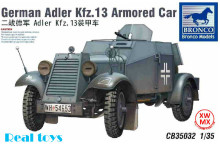 Bronco model CB35032 1/35 German Adler Kfz.13 Armored Car plastic model kit