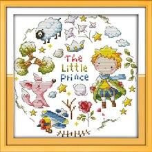 Маленький принц, Счетный напечатаны на ткани DMC 14ct 11ct вышивки крестом, вышивка рукоделие Наборы для ухода за кожей Домашний Декор(China)