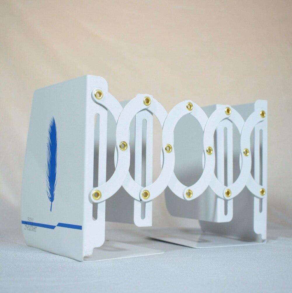 11-45cm Retractable Bookend Korea Style Metal Strechable Bookends Extension-type Sujetalibros Random Pattern<br>