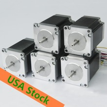USA Free! CNC Wantai 5PCS Nema 23 Stepper Motor 57BYGH627 270oz-in 76mm 3.0A CE ISO ROHS Medical Industrial Automation Laser