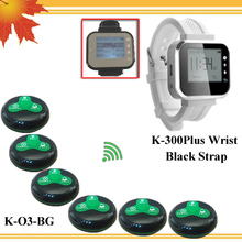 Wireless Guest Calling System For Restaurant Service (Button & Watch Receiver) 6 Bell