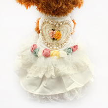 Armi store Love Pearl Tutu Lace Dog Dresses Princess Wedding Skirt For Dogs 6073001 Puppy White Dress Clothing