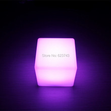 4pcs/lot Little 13CM Cube Luminous Multicolour LED bar table lamp waterproof rechargeable glowing cube night light