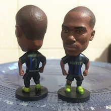 Soccerwe 2016-17 Season 2.55 Inches Height Football Dolls Serie A Inter Milan Player 7 Kondogbia Doll for Fans Collections Blue