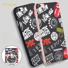 Minason all time low green day sos mayday parade Mobile Phone Soft TPU Silicon Case Cover for iPhone X 8 5 SE 5S 6 6S 7 Plus