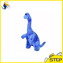 2016 New Arrival Free Shipping 1pcs 20inch Long Neck Blue Dinosaur Plush Toy Good Toys Doll for children Kids Gift ST404(China)
