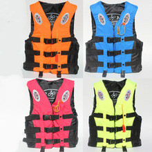 4 Color 6 Size  Life Vest For Kids & Adult Fishing Vests Professional Sandbeach Water-Skiing Surfing Jacket Safety Jackets