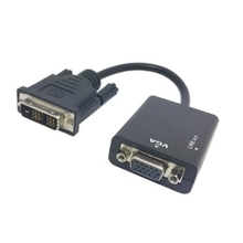 50pcs/lot DVI input to VGA output Video adapter with 3.5mm Audio cable For projector monitor ,  By Fedex