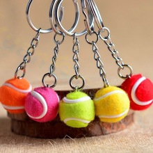 Ornaments Keychain Souvenirs Tennis-Ball Plastic Mini Fans Pendant Key-Ring Small