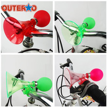 New Arrival Plastic Rubber Children Squeeze Air Honking Horn Bell Kids Bicycle Safe Ring Alarm Bicycle Accessory 5 Colors