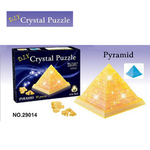 3D Puzzles Crystal Great Pyramid DIY Puzzles Creative Toy Building Model for Children